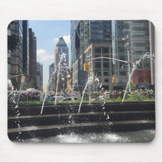 Dancing Water Fountain, Columbus Circle, New York Mouse Pad