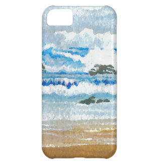 Dancing Waves on the Rocks Ocean Seascape Case For iPhone 5C