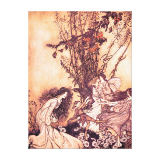 Dancing with Fairies Arthur Rackham Illustration Gallery Wrapped Canvas