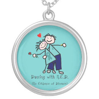Dancing with N.E.D. Cervical Cancer Round Pendant Necklace