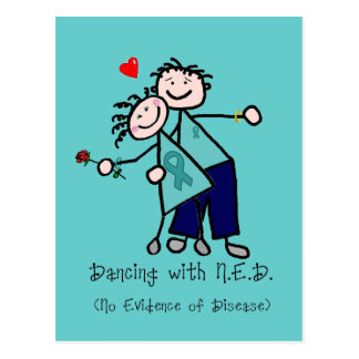 Dancing with N.E.D. Ovarian Cancer Postcard