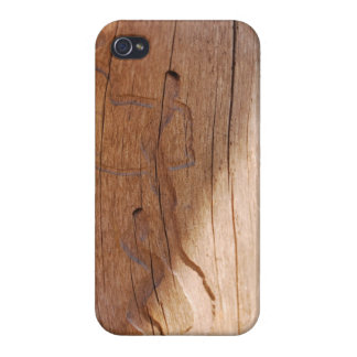 Dancing Wooden Figures Cover For iPhone 4