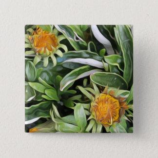 Dandelion a la Van Gogh 2 Inch Square Button