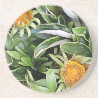 Dandelion a la Van Gogh Coaster