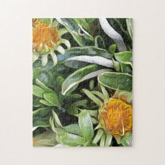Dandelion a la Van Gogh Jigsaw Puzzle