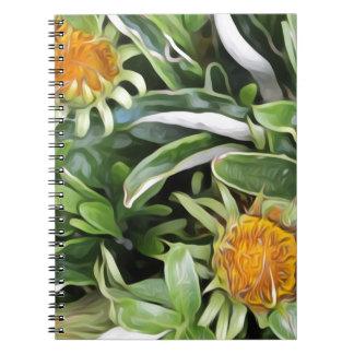 Dandelion a la Van Gogh Spiral Notebook