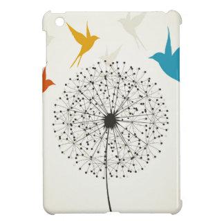 Dandelion and bird iPad mini cover