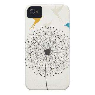 Dandelion and bird iPhone 4 cases