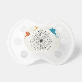 Dandelion and bird pacifier