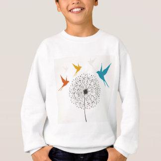 Dandelion and bird sweatshirt