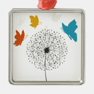 Dandelion and the butterfly metal ornament