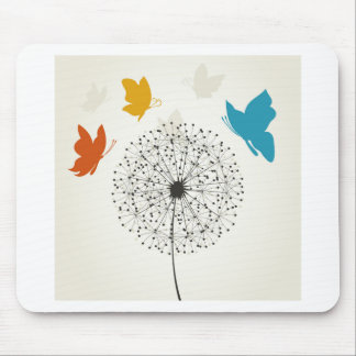 Dandelion and the butterfly mouse pad
