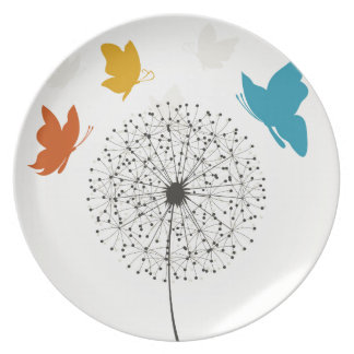 Dandelion and the butterfly plate