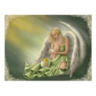 Dandelion Angel Moon Postcard
