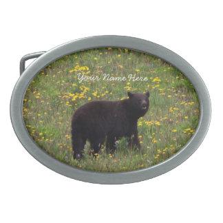 Dandelion Bear; Customizable Belt Buckles