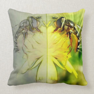 Dandelion Bee Throw Pillow