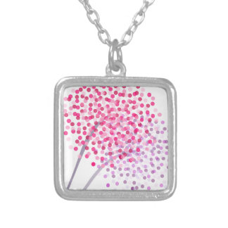 Dandelion Blooms Silver Plated Necklace