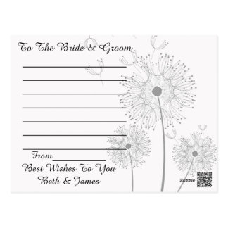 Dandelion Blossoms Vines Best Wishes Newly Weds Postcard