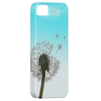 Dandelion blowing, seeds scattering iphone 5 case