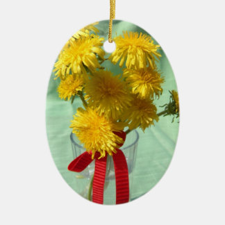 Dandelion Bouquet Ceramic Ornament