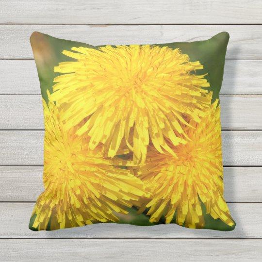 Dandelion Bouquet Throw Pillow