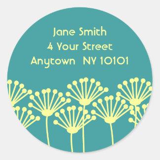 Dandelion Breeze Classic Round Sticker