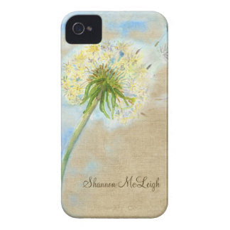 Dandelion Breeze Linen Burlap Wish Fulfilled IPod iPhone 4 Cover