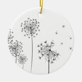 Dandelion Ceramic Ornament