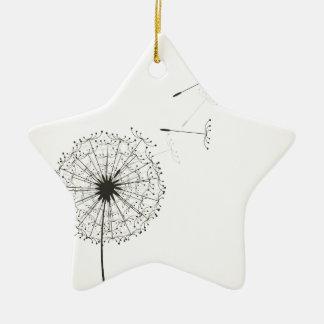 Dandelion Ceramic Star Ornament