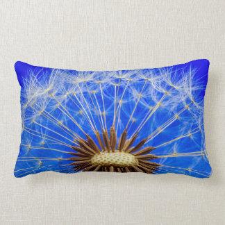 Dandelion Clock Blue Sky Photograph Lumbar Pillow