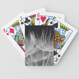 Dandelion Closeup in Black White Bicycle Playing Cards