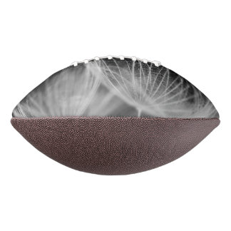 Dandelion Closeup in Black White Football