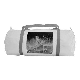 Dandelion Closeup in Black White Gym Bag