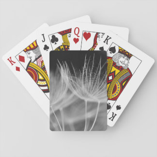 Dandelion Closeup in Black White Playing Cards