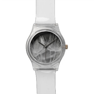 Dandelion Closeup in Black White Watch