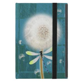 Dandelion dragonfly rustic blue barn wood iPad mini case