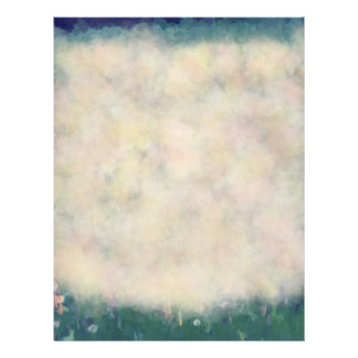 Dandelion Field of Wishes Botanical Painting Customized Letterhead