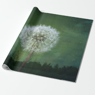 Dandelion Flower Fluff Starry Sky Art