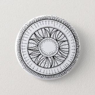 dandelion flower mandala 2 inch round button
