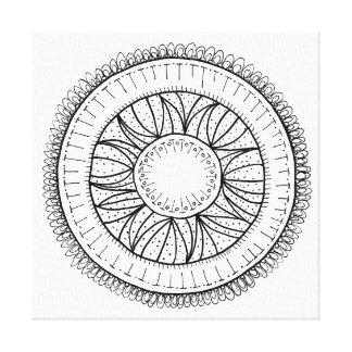 dandelion flower mandala canvas print