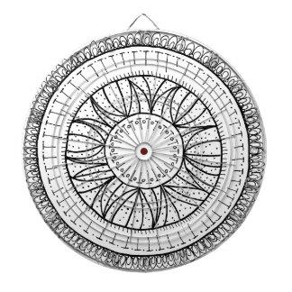 dandelion flower mandala dartboard