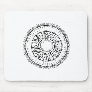 dandelion flower mandala mouse pad