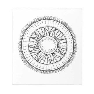 dandelion flower mandala notepad