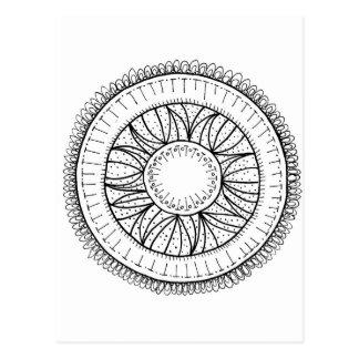 dandelion flower mandala postcard