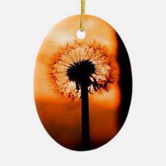 Dandelion Flower (Tooth of Leon) Ceramic Ornament