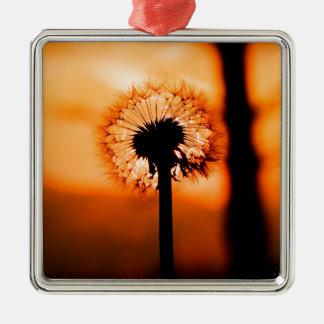 Dandelion Flower (Tooth of Leon) Metal Ornament
