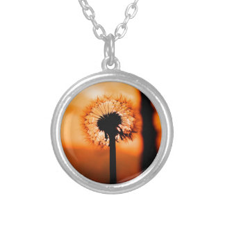 Dandelion Flower (Tooth of Leon) Silver Plated Necklace