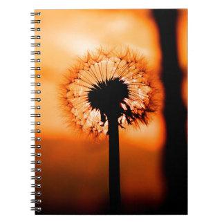 Dandelion Flower (Tooth of Leon) Spiral Notebook