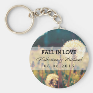 Dandelion Flower Wedding Favor Keepsake Keychain