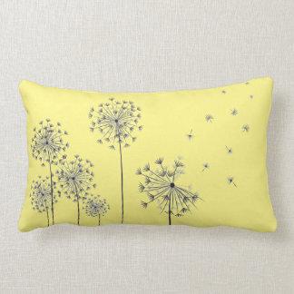 Dandelion flowers lumbar pillow